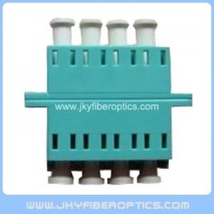 LC/PC Quad Fiber Optical Adaptor-Aqua Color