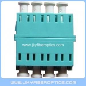 LC/PC Quad Fiber Optical Adaptor without ear,Aqua color