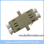 LC MM DX Fiber Adaptor,SC Footprint,Beige Color