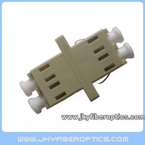 LC MM DX Fiber Adaptor,SC Footprint,Beige Color