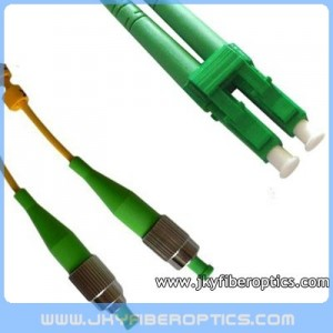FC/APC to LC/APC Singlemode Duplex Fiber Optic Patch Cord