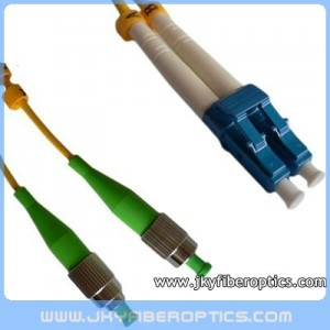 FC/APC to LC/UPC Singlemode Duplex Fiber Optic Patch Cord
