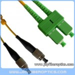 FC/UPC to SC/APC Singlemode Duplex Fiber Optic Patch Cord