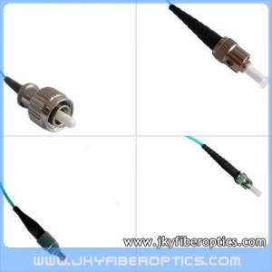 FC/PC to ST/PC Multimode OM3 10G Simplex Fiber Optic Patch Cord