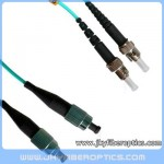 FC/PC to ST/PC Multimode OM3 10G Duplex Fiber Optic Patch Cord