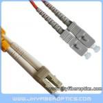 LC/PC to SC/PC Multimode Duplex Fiber Optic Patch Cord