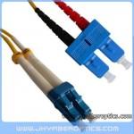 LC/UPC to SC/UPC Singlemode Duplex Fiber Optic Patch Cord