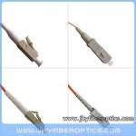 LC/PC to SC/PC Multimode Simplex Fiber Optic Patch Cord
