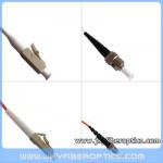 LC/PC to ST/PC Multimode Simplex Fiber Optic Patch Cord