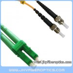 LC/APC to ST/UPC Singlemode Duplex Fiber Optic Patch Cord