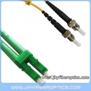 LC/APC to ST/UPC Singlemode Duplex Fiber Optic Patch Cord