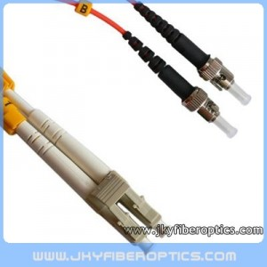 LC/PC to ST/PC Multimode Duplex Fiber Optic Patch Cord