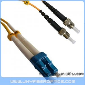 LC/UPC to ST/UPC Singlemode Duplex Fiber Optic Patch Cord