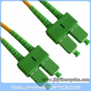 SC/APC to SC/APC Singlemode Duplex Fiber Optic Patch Cord